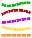 Комплект красочных брошенных линий в различных направлениях Стоковая Фотография