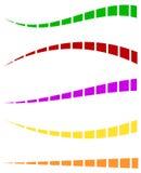Комплект красочных брошенных линий в различных направлениях Стоковые Фотографии RF