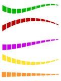 Комплект красочных брошенных линий в различных направлениях иллюстрация вектора