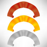 Комплект красочных бумажных переченей покрашенные тесемки Стоковые Изображения RF