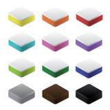Комплект красочных блоков и оснований, вектора Стоковое фото RF