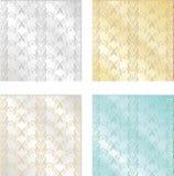 Комплект красочных винтажных текстур Безшовные предпосылки для Wallp Стоковые Изображения RF