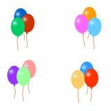 Комплект красочных воздушных шаров, иллюстрация Стоковое Изображение