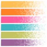 Комплект красочных знамен пиксела Стоковая Фотография