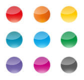 Комплект красочных значков вектора Стоковое Изображение