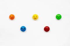 Комплект красочных значков шариков шоколада Стоковая Фотография