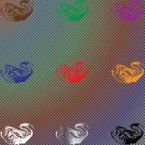 Комплект красочных изолированных тумана или дыма, прозрачного специального эффекта Яркая предпосылка пасмурности, тумана или смог Стоковое Изображение