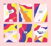 Комплект красочных карточек с текстом спасибо Собрание абстрактных предпосылок с надписью Стоковые Фотографии RF