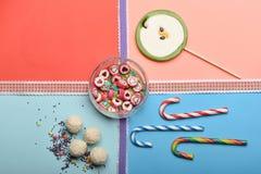 Комплект красочных конфет Стоковое Изображение RF