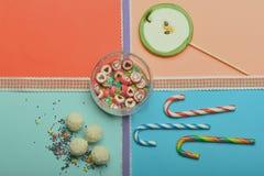 Комплект красочных конфет Стоковые Изображения