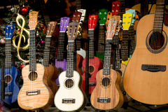 Комплект красочных классических моделей гитары Стоковое Изображение