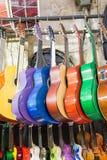 Комплект красочных классических моделей гитары Стоковое Фото