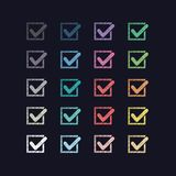 Комплект красочных меток Стоковое Изображение RF