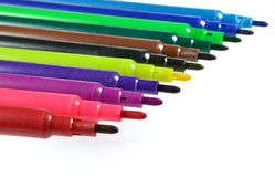 Комплект красочных отметок изолированных на белизне Стоковое Фото