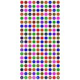 Комплект красочных передвижных значков с кругом иллюстрация штока