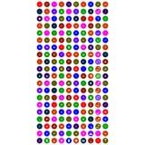 Комплект красочных передвижных значков иллюстрация штока