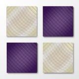 Комплект 4 красочных предпосылок Стоковая Фотография RF