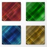 Комплект 4 красочных предпосылок Стоковые Фотографии RF