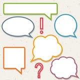 Комплект красочных пузырей речи, рамок Стоковая Фотография RF