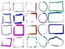 Комплект красочных пустых рамок grunge Иллюстрация вектора colo иллюстрация вектора