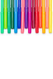 Комплект красочных ручек чувствуемой подсказки изолированных на белизне Стоковые Фото