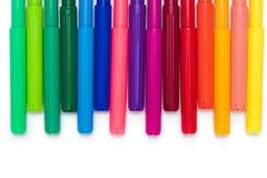 Комплект красочных ручек чувствуемой подсказки изолированных на белизне Стоковые Фотографии RF