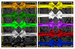 Комплект красочных смычков и лент для дизайна Стоковые Фотографии RF