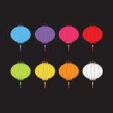 Комплект красочных фонариков для украшения Стоковые Фото