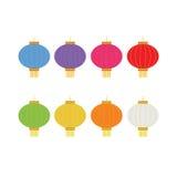Комплект красочных фонариков для украшения Стоковые Изображения