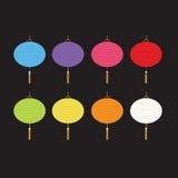 Комплект красочных фонариков для украшения Стоковое фото RF