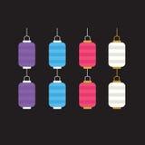 Комплект красочных фонариков для украшения Стоковая Фотография RF
