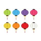 Комплект красочных фонариков для украшения Стоковые Изображения RF