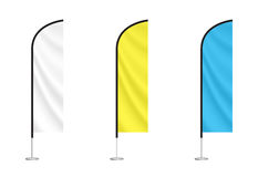 Комплект красочных флагов пера Стоковое фото RF
