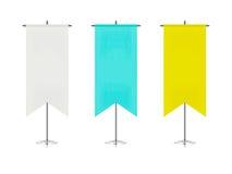Комплект красочных флагов таблицы Стоковая Фотография