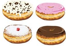 комплект красочных donuts Стоковая Фотография