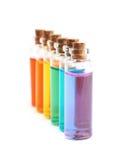 Комплект крошечных бутылок пробирки Стоковые Изображения