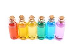 Комплект крошечных бутылок пробирки Стоковая Фотография RF