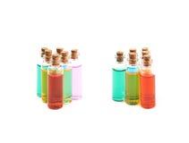 Комплект крошечных изолированных бутылок пробирки Стоковое Изображение RF