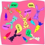 Комплект кролика иллюстрация штока