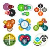 Комплект круга сформировал шаблоны дизайна пузырей infographic бесплатная иллюстрация