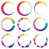 Комплект круга 9 с линиями сложной формы бесплатная иллюстрация