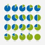 Комплект круговой диаграммы, infographic дизайна бесплатная иллюстрация