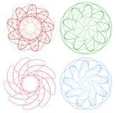 Комплект круговых геометрических элементов/минимальных мандал бесплатная иллюстрация