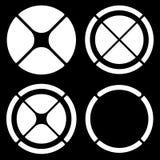 Комплект круговых символов перекрестия (метки цели) или долевой диограммы, pi бесплатная иллюстрация
