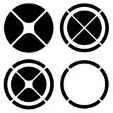 Комплект круговых символов перекрестия (метки цели) или долевой диограммы, pi иллюстрация штока