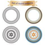 Комплект 4 круглой картины Стоковое фото RF