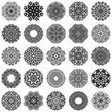 Комплект круглых орнаментов Стоковые Изображения RF