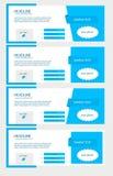 Комплект крышек сини временной последовательности по facebook Бесплатная Иллюстрация