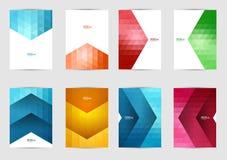 Комплект крышек шаблонов для рогульки, брошюры, знамени, листовки, книги, размера A4 Дизайн плана крышки Стоковая Фотография RF