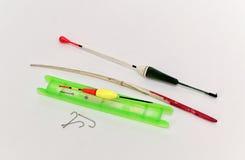 Комплект крюков, sinkers и удя линии Стоковое Изображение RF